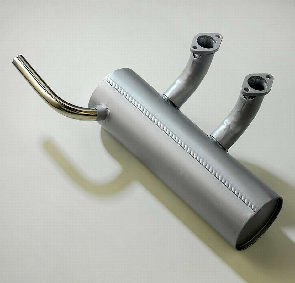 Champion 400 Exhaust Silber